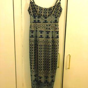 BCBGMaxAzria Alese Royal Blue Combo Dress NWT Sz 0